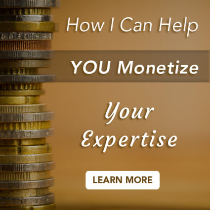 Monetise your expertise